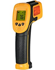 Honeytecs Mini Handheld Non-contact LCD Infrared Thermometer -32~550°C/-26~1022°F 12:1 Temperature Meter Digital IR Industrial Thermometer Data Hold Function (NOT for Humans)