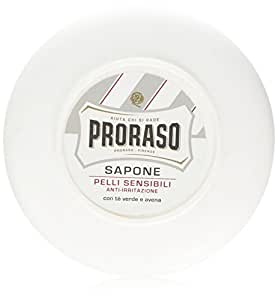 Proraso Shaving Soap in a Bowl, Sensitive Skin, 5.2 oz (150 ml)