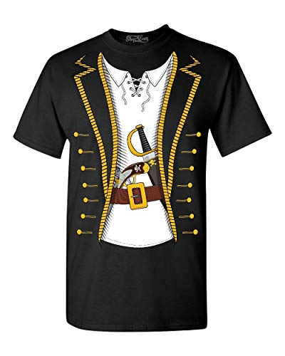 Shop4Ever Pirate Buccaneer Costume T-Shirt X-Large Black 0 ()