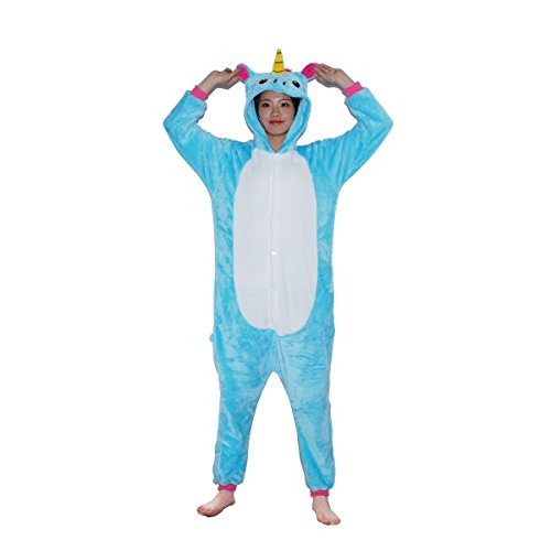 Unicorn Kigurumi Pajamas - FeelMeStyle Animal Cosplay Costume Unisex Adult Children Onesie (Couples Cosplay Costumes)