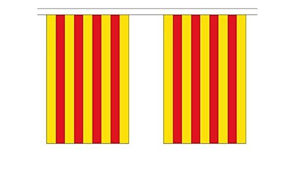 España Cataluña Poliéster Bandera Banderín 3m (10) Banderitas Con 10 Banderas: Amazon.es: Hogar