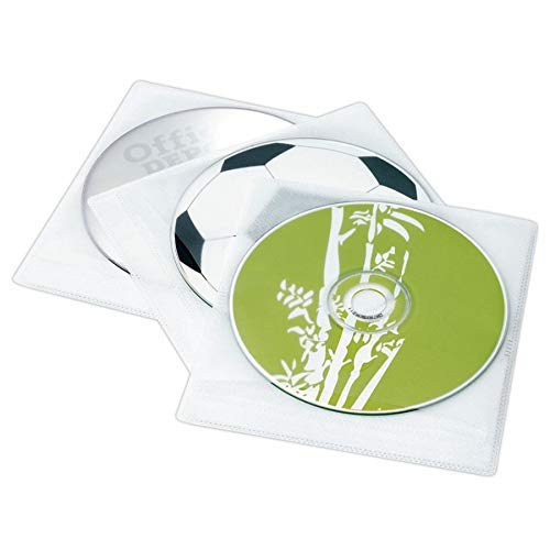 - Ativa Brand 2-Sided CD Sleeves, 200 Capacity, Pack of 100