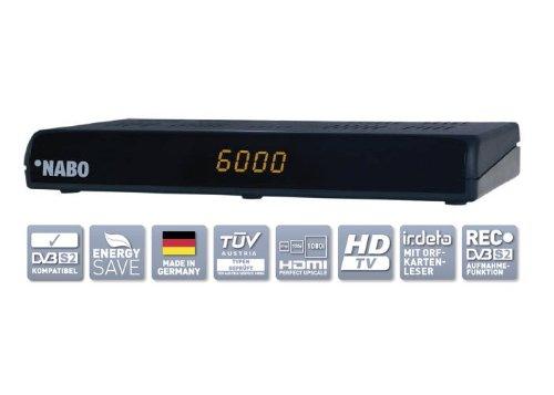 NABO HD Star Digital HD Sat Receiver Ethernet Irdeto Kartenleser USB PVR