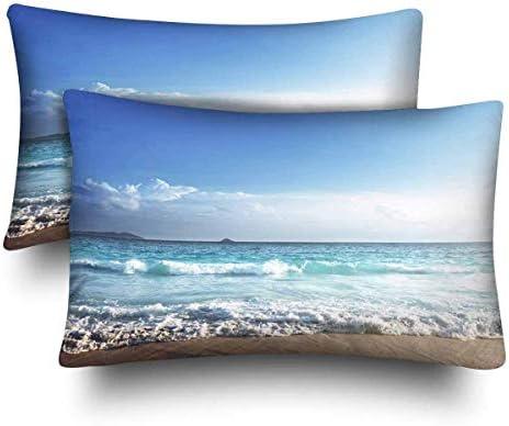 Amazon.com: Ocean Wave Beach Navy Blue Seascape Seaside ...