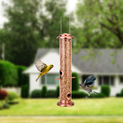 Bird Feeder Hanging Wild Bird Seed Feeder For Mix Seed 14