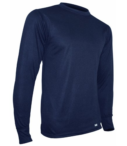 Polarmax Mid Weight Double Base Layer Mens Long Sleeve Crew Tee