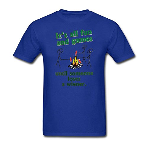 It's All Fun And Games Until Someone Looses A Weiner Royal Blue T-shirt XL