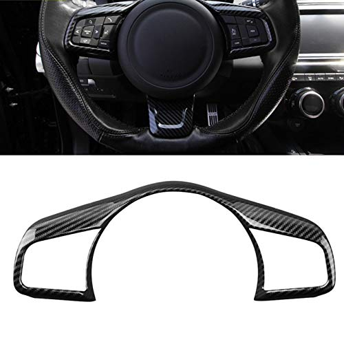 (Funnmart Car Accessories for Jaguar F-PACE fpace Styling 2016 2017 2018 ABS Chrome Car Steering Wheel Button Frame Covers Trim)