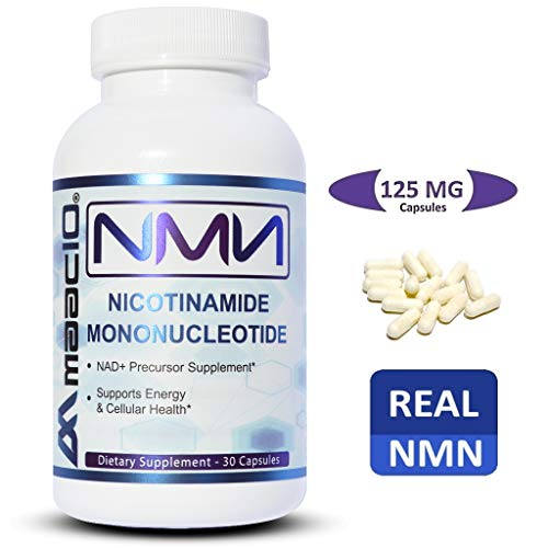 (MAAC10 125mg NMN Nicotinamide Mononucleotide Supplement. Direct NAD+ Precursor. Supports DNA-Repair, Sirtuin Activation & Energy. (30 Capsules))