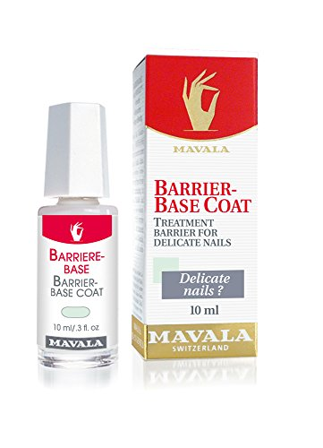 Mavala Base Coat, Barrier for Sensitive, Delicate, and Dry Nails, 0.3 Fl Oz