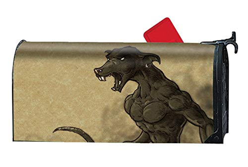 BYUII Rust-Proof Mail Box Covers Dark Demon Horror Creepy Spooky Scary Halloween Satanic Satanism Werewolf Mailbox Makeover Cover]()
