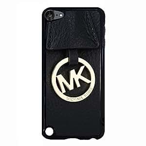 Black Leather Golden Logo MK Phone Case Skin for Ipod Touch 5th GenerationMichael Kors Case