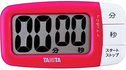 Tanita 타니타 타이머 대화면 100분 핑크 TD-394-PK 형사 보여 타이머