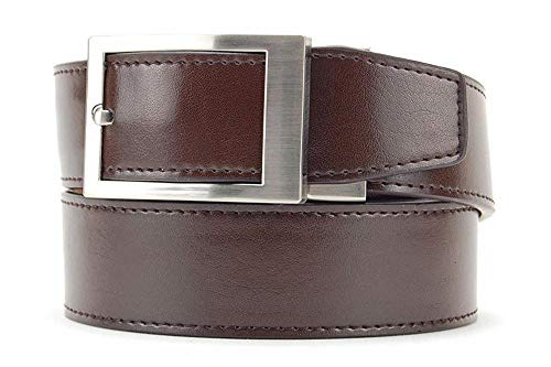 Classic Espresso Leather XL Belt for Men with Automatic Buckle - Nexbelt Ratchet System Technology