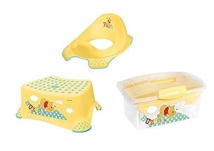 Sgabello rialzo per wc traveller box winnie the pooh giallo
