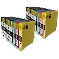 Wildyez 10 Pack 252 252XL Replacement Ink Cartridges (4 Black, 2 Cyan, 2 Magenta, 2 Yellow)