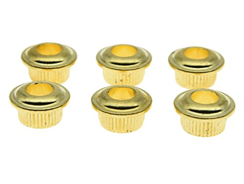 Dopro Metal Gold 10mm Guitar Tuners Conversion Bushings Adapter Ferrules for Vintage Guitar Tuning Keys