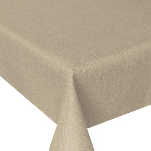 Leinen Optik - Eckig Farbe & Größe wählbar - 160 x 320 bzw. 160x320 bzw. 320x160 cm Beige Sand mit Lotus Effekt Tischwäsche mit Fleckschutz - Beige TD Eckig 160 x 320 cm