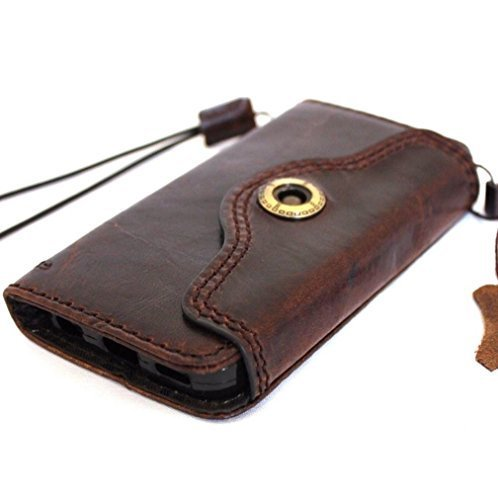 Original Vintage Öl Leder Handmade Hard Fall für Apple iPhone SE Wallet speziellen Luxus Retro ID 5 C 5S