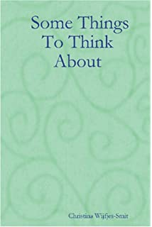 Amazon com: Some Things to Think About (9781564113177): Humza al