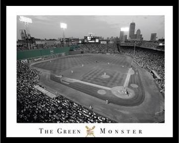Buyartforless Professionally Framed Fenway Park - Green Monster Poster, 16