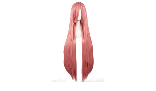 Amazon.com: Uuc Anime Kurokos Basketball Momoi Satsuki Vocaloid Miku Cosplay Wig Pink Long Straight Hair 100CM: Beauty