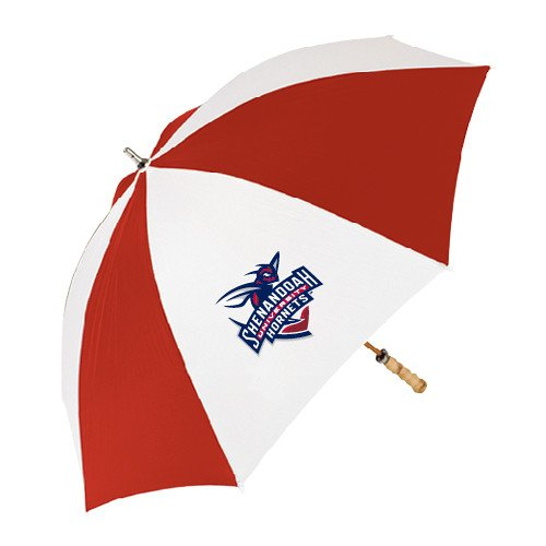 Shenandoah 62 Inch Red/White Vented Umbrella 'Official Logo' by CollegeFanGear