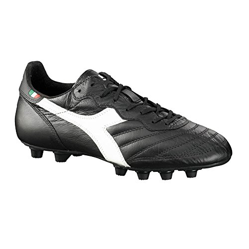 Diadora Men's Brasil Italy Lt MD Soccer Cleats, Black Calf Leather, Polyurethane, 8 M by Diadora