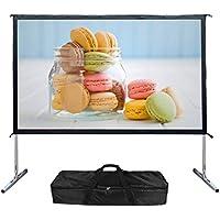 EZAPOR Outdoor Screen 100-inch 16:9 4K Ultra HD Ready Portable Foldable Movie Theater Projector Screens