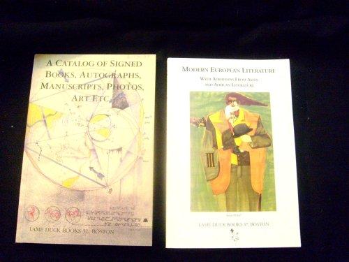 A CATALOG OF SIGNED BOOKS, AUTOGRAPHS, MANUSCRIPTS, PHOTOS, ART ETC.