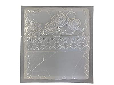 Roses Plaque Border Concrete Plaster Mold 7122