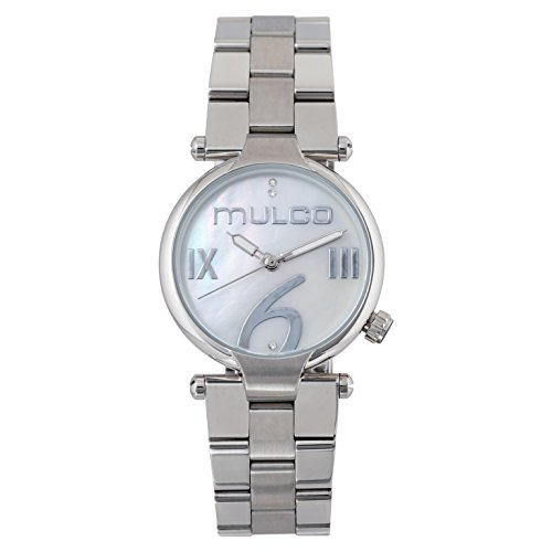 Mulco Mini Metal Quartz Slim Analog Women's Watch | Premium Mother of Pearl Sundial Display Modern Classics Accents | Steel Watch Band | Water Resistant Stainless Steel Watch | MW5-5191-111