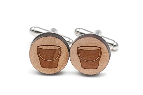 - Wooden Accessories Company Pail Cufflinks, Wood Cufflinks Hand Made in The USA