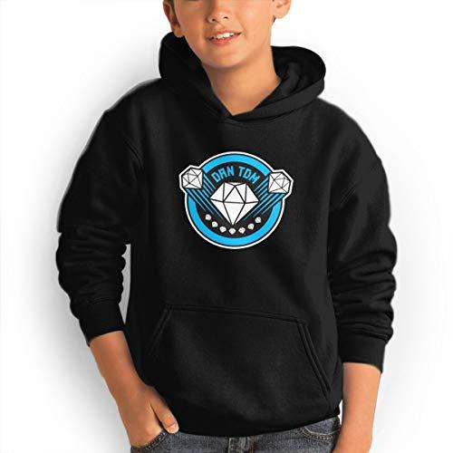 (DAN TDM The Diamond Teen Hoodies Fashion Sweatshirts Pullover Black)