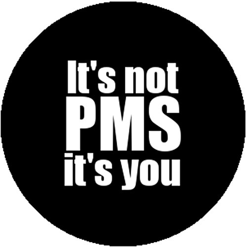 Badge Button It's Not PMS It's You Funny Feminist Bitch Pre Menstrual Tension (Button Bitch)