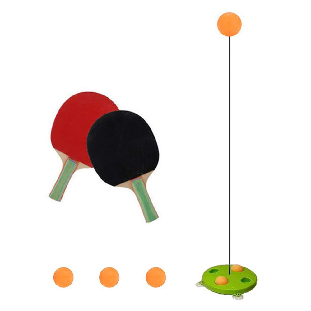 para Adultos Juguete el/ástico Suave para Entrenamiento de Pelotas de Ping Pong Volwco Entrenador de Tenis de Mesa para Interiores y Exteriores Adolescentes//ni/ños