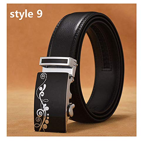 Mens Luxury Designer Male Genuine Leather Strap White Automatic Buckle Belt