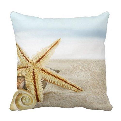 Litaz-Cotton-Linen-Decorative-Throw-Pillow-Case-Cushion-Cover-Sandy-Beach-Starfish-Seashells-18-x-18