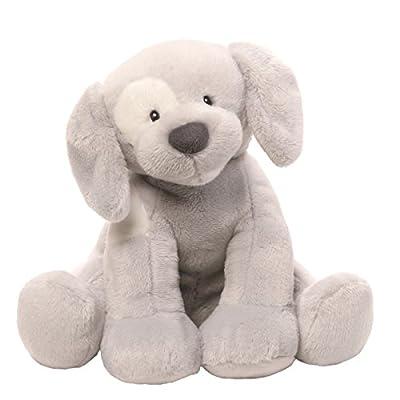 Gund Baby Spunky Dog Keywind Musical Stuffed Animal, Gray