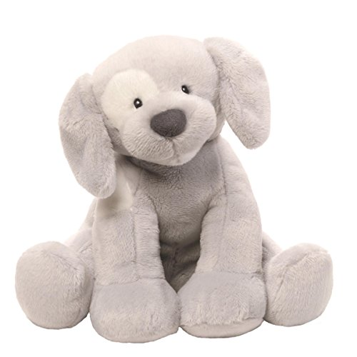 Gund Baby Spunky Dog Keywind Musical Stuffed Animal, Gray