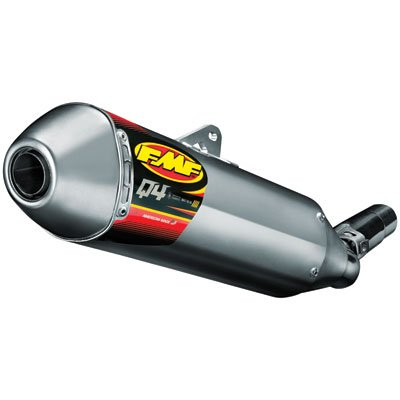 FMF Q4 Slip On Exhaust With Spark Arrestor Stainless Steel 045442 ()