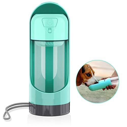 UPSKY Dog Water Bottle Leak-Proof Portable Dog Water Bottle Bowl Durable BPA Free Pet Dog Water Dispenser with Activated Carbon Filter Travel Dog & Cat Drinking Cup Water Bottle Bowl for Walking