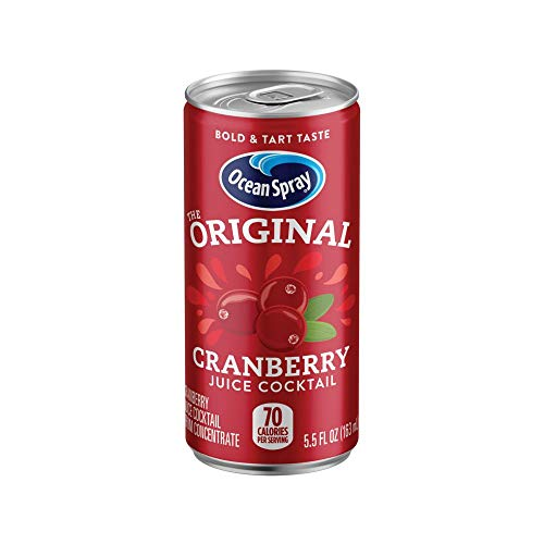 Ocean Spray Juice Drink, Cranberry Juice Cocktail, 5.5 oz Mini Cans (Pack of - Cans Cranberry Juice