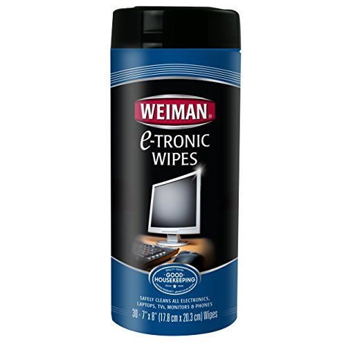 Weiman Anti-Static E-Tronic Electronic Cleaning Wipes For LCD Screens, Computers, TVs, Tablets, E-readers, Smart Phones, Netbooks, and Touchscreens (30 Wipes) Anti Static Monitor Wipes