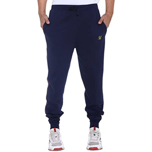 41diXwa5D9L. SS500  - VIMAL JONNEY Men's Navy Blue Cotton Trackpants-D8NAVY-P