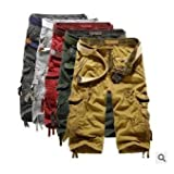 Men's summer men's large outdoor straight leg tool pocket and leisure shorts