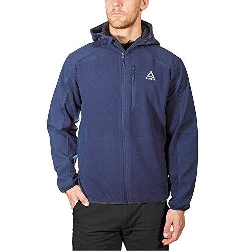 Reebok Men's Mixed Media Softshell Jacket (Navy, Medium)