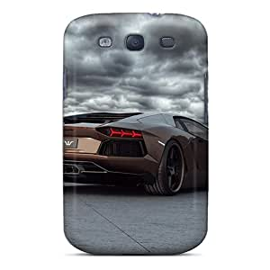 Fashion Tpu Case For Galaxy S3- Lamborghini Aventador Under Stormy Clouds Defender Case Cover