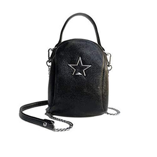 PU Sac à bandoulière en Cuir Femme Star Bag Golden 14cm8cm18cm Black