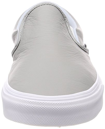 Vans Slip Classic Adulto leather Unisex Sin Zapatillas Cordones on Gris q7CxUnZqr